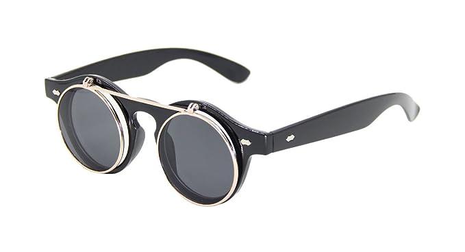 ASVP SHOP® Steampunk Gafas Gafas de Sol Redondas emotivo ...