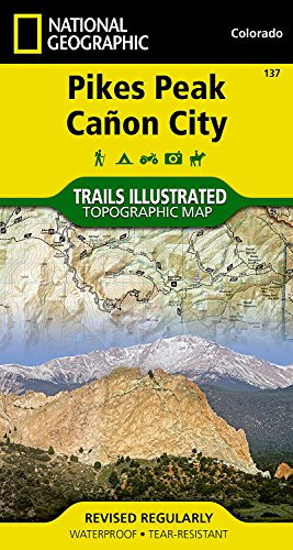 Pikes Peak, Cañon City (National Geographic Trails Illustrated Map) (Hiking Pikes Peak)