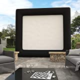 Dtemple Outdoor Inflatable Movie Screen, 17ft Portable Air blown Projection Screen for Backyard Theater Pool Fun, 13.1 x 11.5ft (US STOCK)