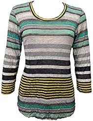 David Cline Womans Crushed Crew-Neck Shirt. Super Soft Fabric. Bold Design.