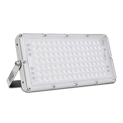 Viugreum 100W LED Flood Light, 8000LM 6000K Daylight White, 500W Halogen Bulb Equivalent, Super Bright Slim Outdoor Work Light IP66 Waterproof Security Light Fixture for Garage, Garden, Lawn, Yard