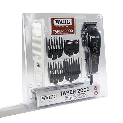 Super Clipper Wahl Hair Taper - Wahl Professional Taper 2000 Adjustable Cut Clipper #8472-850 - Black Blade Attachments