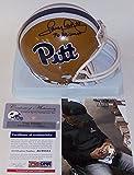 Tony Dorsett Autographed Hand Signed Pitt Panthers Throwback Mini Football Helmet - with 76 Heisman Inscription - PSA/DNA