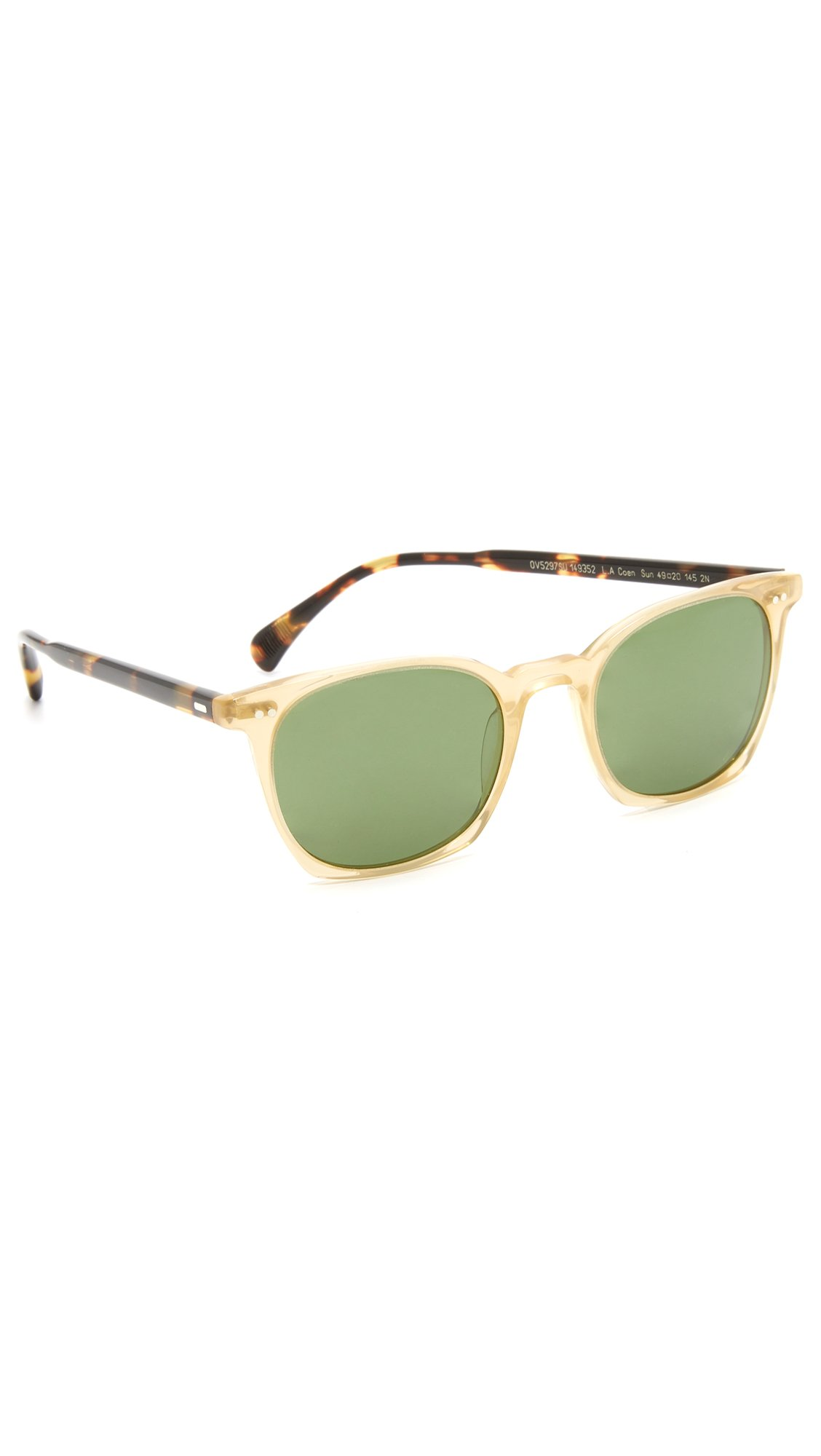 Oliver Peoples Eyewear Men's LA Coen Sunglasses, SLB/VDTB/Green, One Size