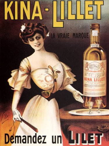 - KINA LILLET FRENCH APERITIF WINE THE REAL BRAND BEAUTIFUL GIRL FRANCE 16