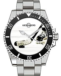 Eishockeyschläger Puk Eishockey Armbanduhr - Kiesenberg Uhr 1996