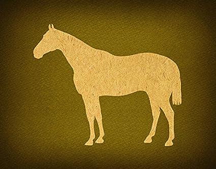 Amazon.com: Vintage Horse Silhouette Wesrn Farm Animal Wall Art ...