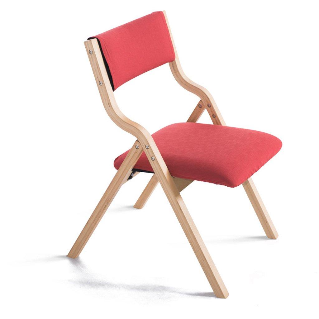Homelx Massivholz-Klappstuhl-einfacher Art-Haushalts-Gewebe gepolsterter speisender Stuhl-Buche-Studien-Büro-Schreibtisch-Stuhl-Computer-Stuhl-Innenholzstuhl