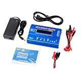 FCONEGY iMAX B6 Lipo Battery Balance Charger 80W 6A Discharger for LiPo/Li-ion/Life Battery (1-6S), NiMH/NiCd (1-15S), RC Hobby Batteries Balance Charger LED W/AC Power Adapter