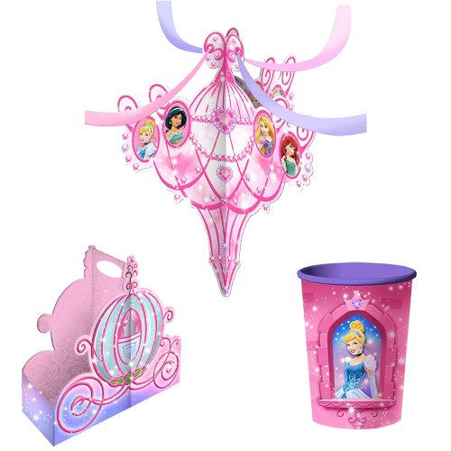 Disney Very Important Princess Dream Party Decorations Pack Kit Including Hanging Centerpiece, Snack Caddy and 16oz. Cup