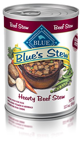 Blue Buffalo Blue's Stew Natural Adult Wet Dog Food, Beef Stew 12.5-oz can (Pack of 12) by BLUE Life Protection Dog Food