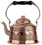 (1.5l) - DEMMEX 2017 Heavy Gauge 1mm Thick Hammered Copper Tea Pot Kettle Stovetop Teapot (1.5l)