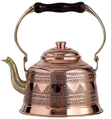 DEMMEX 2017 Heavy Gauge 1mm Thick Hammered Copper Tea Pot Ke