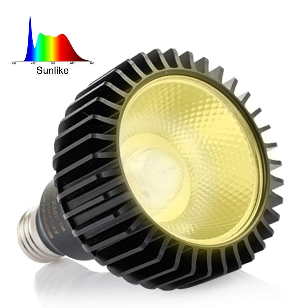 LED Grow Light Bulb MFXMF, Replace up to 100-200W, Daylight White Full Spectrum Plant Lights for Indoor Plants, Garden, Flowers, Vegetables, Greenhouse Hydroponic Growing E27 Base with COB Grow Chips