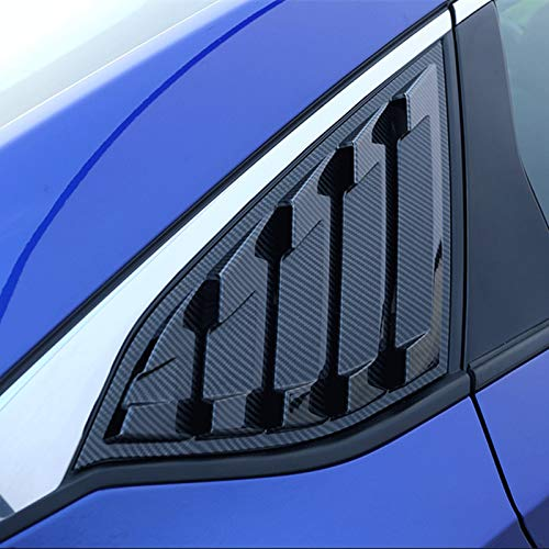 2X Sport Style Carbon Fiber Print Quarter Window Scoops Louvers for Honda Accord Sedan 2018 2019 (Honda Sport 2018)