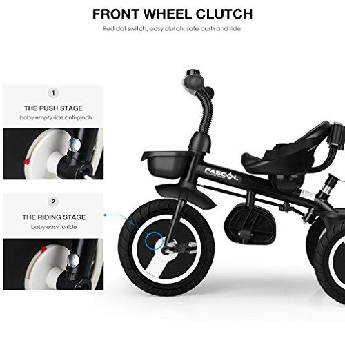 Fascol Triciclo 6 en 1 para Niños 18 Meses a 5 Años Triciclo con Mango Bebé Manillar y asiento ajustables, Gris: Amazon.es: Juguetes y juegos
