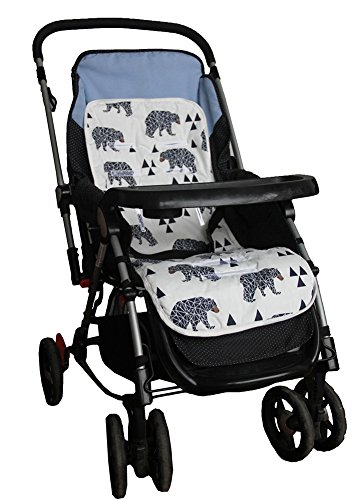 reversible baby seat liner for stroller car seat cushion pad import it all. Black Bedroom Furniture Sets. Home Design Ideas