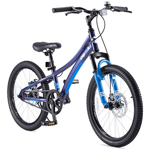 Royalbaby Boys Girls Kids Bike Explorer 20 Inch Bicycle for 7-12 Years Old Front Suspension Aluminum Child's Cycle with Disc Brakes Blue