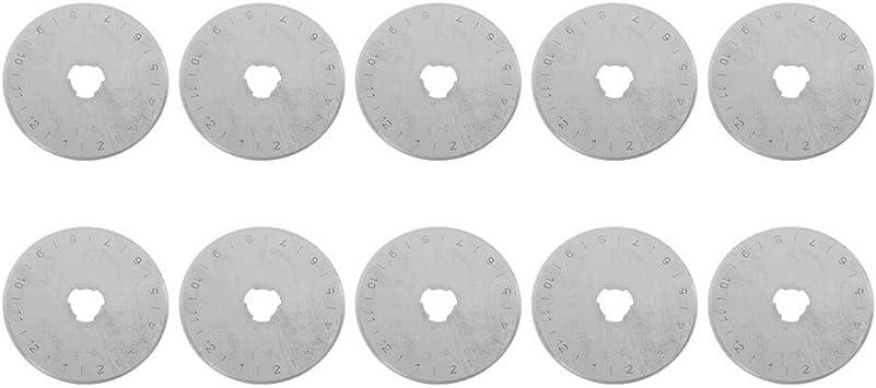10 piezas de repuesto para cortador giratorio 45 mm de repuesto para cortador giratorio Cuchillas de corte giratorio Cuchillas para cortar herramienta de artesan/ía de papel de tela de cuero