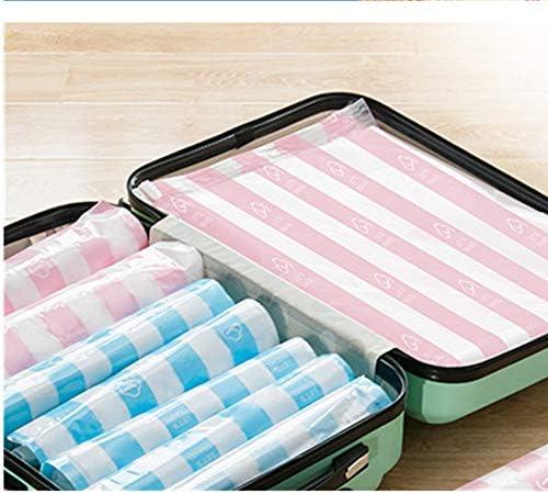 旅行用収納袋 18個入りスペースセーバーバッグ旅行ハンドロールストレージバッグオーガナイザー荷物圧縮ポーチセット防水服ストレージ(6x小、6x中、6x大) ハンドロールアップ再利用可能な服 (色 : As picture, Size : S+M+L)