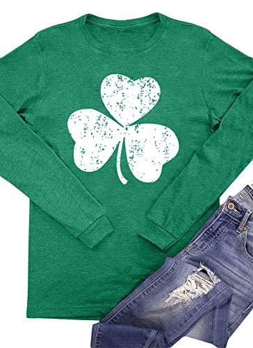 Irish Women's Green St Patrick's Day Clover Top