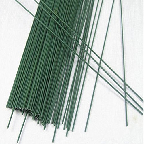 Floral Stems 2mm Width DIY Flowers Wire Stems 10'' Length Green Stems 100/Pack