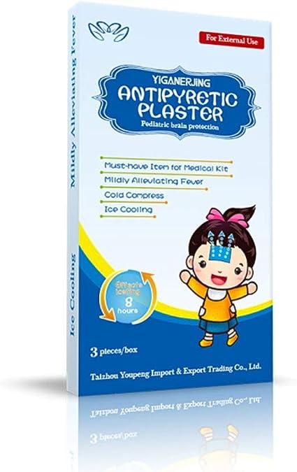 Allbestaye Parche de enfriamiento de fiebre Hielo Gel Pegar Yeso Terapia de frío para niños 3 Pack/Box: Amazon.es: Bebé