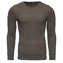 TAZZIO Herren Rundhals Sweatshirt Pullover Hoodie 16211