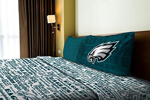 Eagles NFL Bedding Anthem Twin Sheet 1 Flat sheet 66x96 1 Fitted sheet 39x75 -