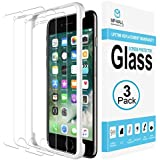 MP-MALL [3-Pack] Screen Protector for iPhone 7, [Case Friendly] Tempered Glass [Alignment Frame Easy Installation] with Lifetime Replacement Warranty