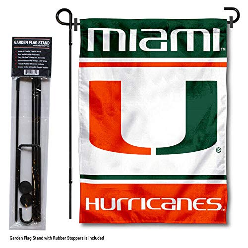 College Flags and Banners Co. Miami Hurricanes Garden Flag Stand Holder
