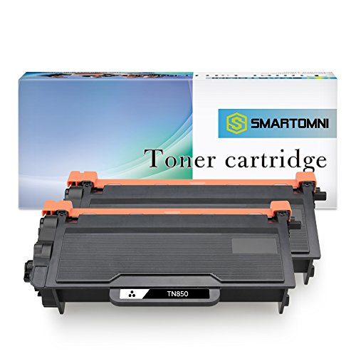 S SMARTOMNI Compatible Toner Cartridge Replacement for BrotherTN850 TN 850 (2-Pack), Compatible use with Brother HLL6200DW DCPL5500DN L5600DN MFCL5800DW L5900DW Series Printers