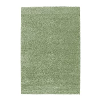 Ikea Adum Langflor Teppich In Hellgrün 133x195cm Amazon