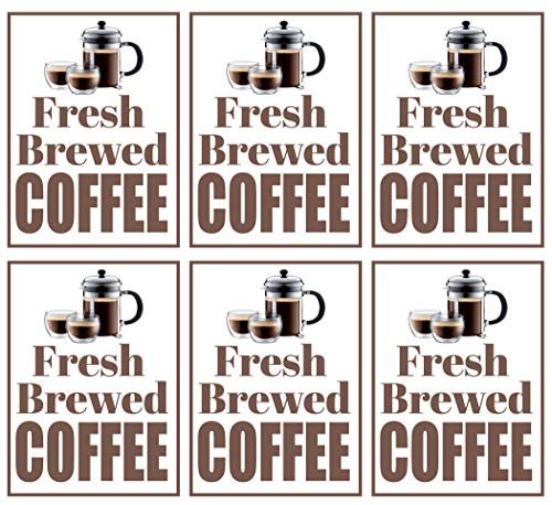 Fresh Brewed Coffee | Large Store Window/Wall Retail Display Paper Signs | Full Color | 18