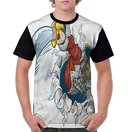 Womens Short Sleeve T-Shirt,Pirate,Cartoon Corsair Buccaneer S-XXL Baseball Print Casual O-Neck Tops