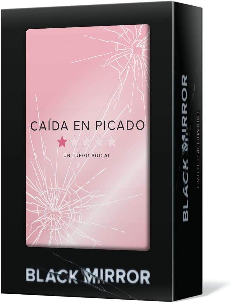 Mixlore- Black Mirror Caída En Picado - Juego De Mesa En Español, Color Negro/Rosa, Talla Única (FPCBM01ES)