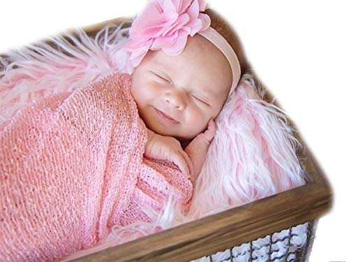 Sunmig Newborn Baby Stretch Wrap Photo Props Wrap-Baby Photography Props (Pink)