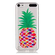 iPod Touch 5 Case, Touch 6 Case, iPod Touch 5 5th 6 6th Clear TPU Case Colorful Fruit Pattern Flexible Soft Protective Skin Back Cover