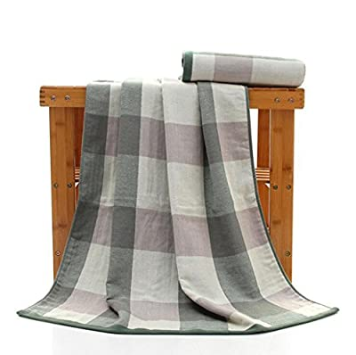Jingzou Simple stripes cotton bath towel beach towel
