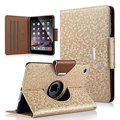 iPad Mini Case,iPad Mini 2 Case,iPad mini 3 Case,ULAK 360 Degree Rotating Synthetic Leather Stand Case Smart Cover for Apple iPad Mini 1/2/3 with Auto Sleep/Wake Function by ULAK