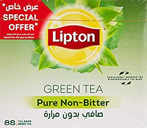 Lipton Green Tea Pure Non Bitter, 88 Tea Bags
