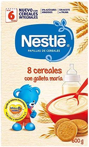 Nestlé Papilla 8 cereales con galleta María - Alimento Para bebés ...