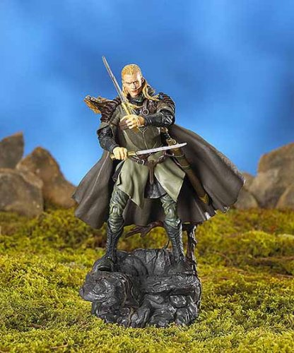 The Lord of the Rings Two Towers Legolas with Arrow Launching Action and Electronic Sound Base by Toy Biz