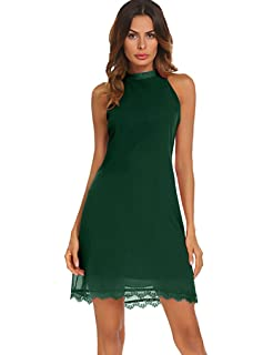 070d8520d9 Doublju Square Neck Halter Neck Swing Dress for Women with Plus Size ...