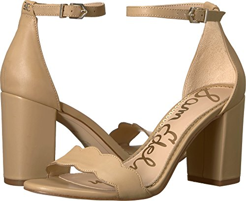 Sam Edelman Women's Odila Ankle Strap Sandal Heel Classic Nude Dress Nappa Leather 6 W -
