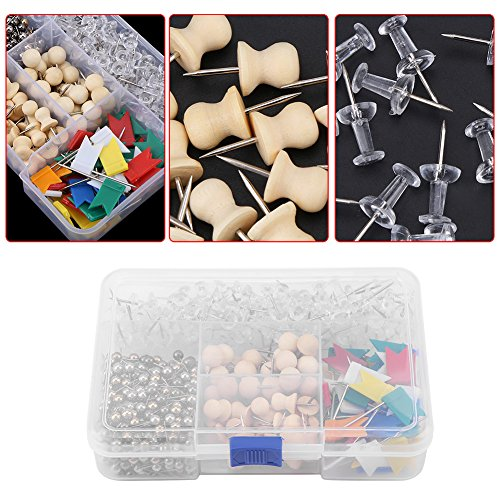 well-wreapped 700Pcs 5 Type Push Pins-Colorful Map Pins with ... on clear map jackets, clear china map, clear map tacks, clear spray adhesive, clear glitter, clear map of germany, clear acrylic, clear hat pins, clear push pins, clear world map,