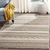Safavieh NAT101A-8 Natura Collection Handmade Wool Area Rug, 8' x 10', Beige