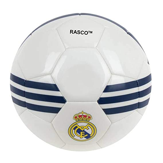 RASCO Madrid White Football 32 Panel  Size 5  Football Balls