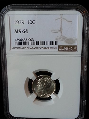 1939 Mercury Dime MS64 NGG Dime MS-64 NGC