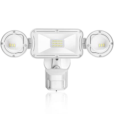 AIDEL 40W LED Security Lights Motion Outdoor Motion Sensor Flood Light 3500 Lumens 5000K Daylight White IP65 Waterproof, ETL Certified 3 Head Exterior Security Light Outdoor